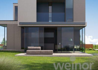 Toldo cofre para arquitectura de diseño minimalista moderna