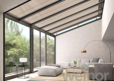 Veranda para techo de cristal WGM weinor